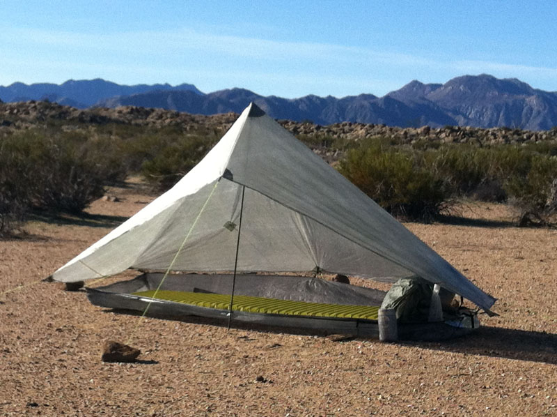 Lots of Space and Headroom & zPacks Hexamid Solo Shelter | PopUpBackpacker