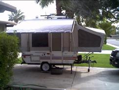 If A Tent Trailer Comes With An Awning From The Dealer It Is Usually One Of Bottom Line Awful AE We Replaced Awnings On Both Our