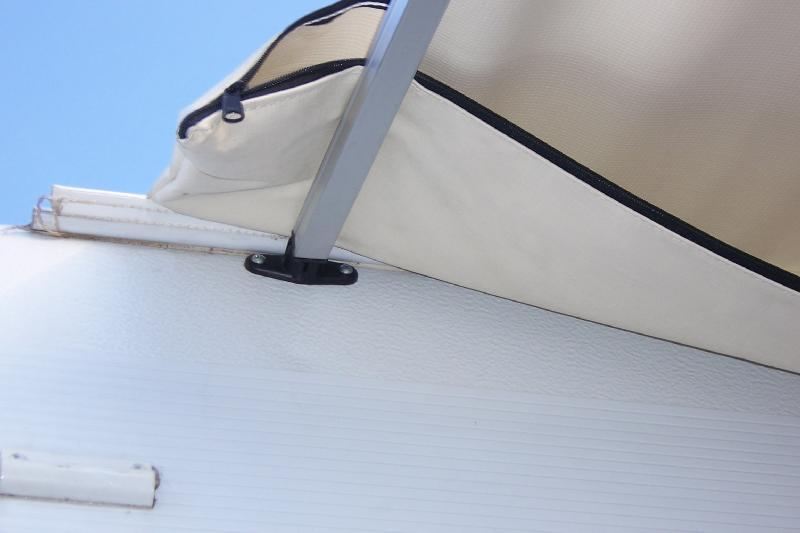 The Bag That Holds Awning Can Be Seen Above Rafter Shademaker 003