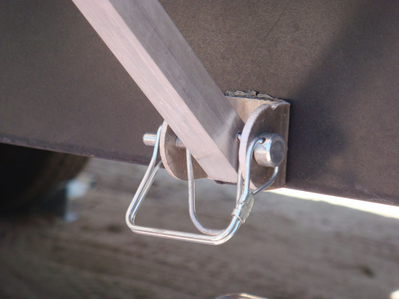 Above Bracket Mounted To The Trailer Frame This Way Awning Poles Legs Do Not Have Be Set Up Like A Carport But Can Attached Camper