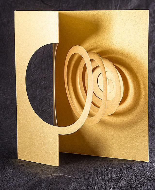 Golden Spiral Popup Card Shop