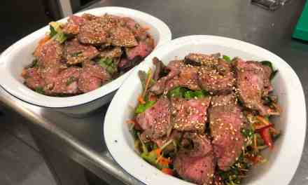 spicy Asian beef salad