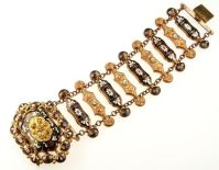 Gold-Plated Brass Enamel Bracelet. Switzerland ca. 1835-1840 | Photography: Antique Vintage Jewellery