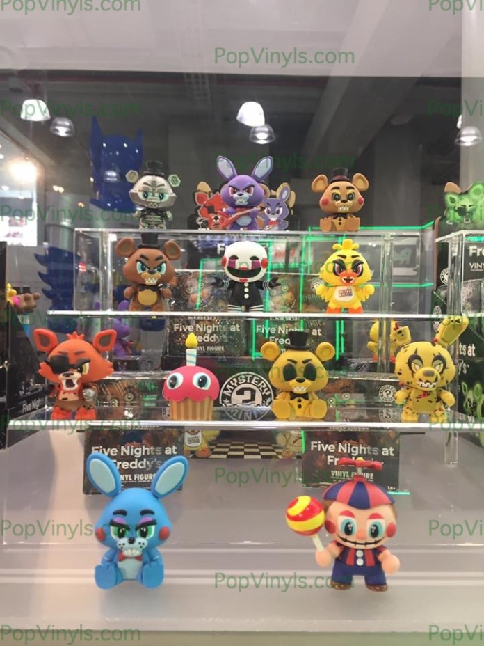 #five nights at freddy's #pop #funko #toy fair 2017 #freddy #balloon boy #chika #jeffery #puppet #marionette #bonnie #golden Freddy