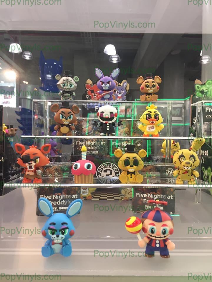 #five nights at freddy's #pop #funko #toy fair 2017 #freddy #balloon boy #chika #jeffery #puppet #marionette #bonnie #golden Freddy