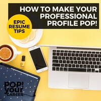 Do you have a professional profile on your resume? Make sure you are pitching yourself to employers effectively with the tips in this post: How to Make Your Professional Profile Pop ~ Pop Your Career