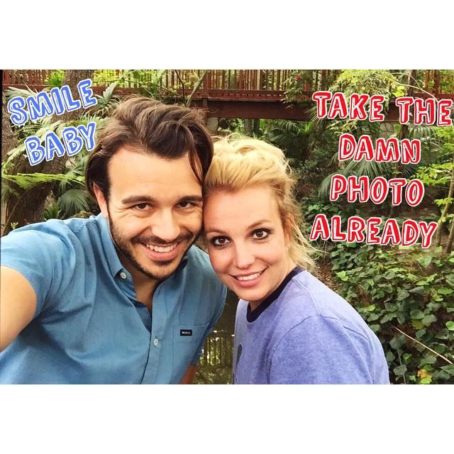 Britney Spears com o novo namorado, Charlie Ebersol