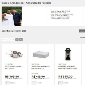 Lista de casamento de Cacau Protásio tem presentes de R$ 12,99 até R$ 5 mil