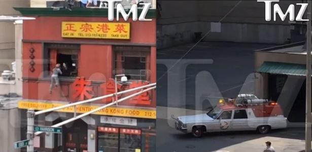 """Primeiras cenas de """"Caça Fantasmas"""" mostra dublê voando por janela"""