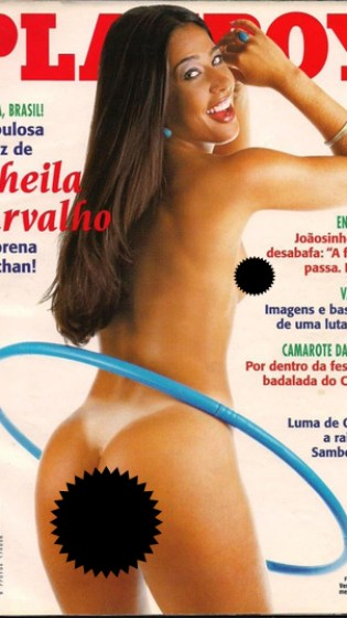 A primeira das cinco capas de Scheila Carvalho
