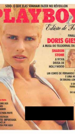 A apresentadora Doris Giesse que foi da Playboy direto pro Fantástico