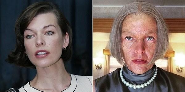 """""""Não recomendado para os fracos"""": Milla Jovovich divulga foto """"aos 85 anos"""""""