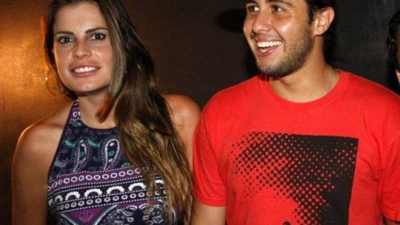 Maryeva com o namorado Bruno Diegues