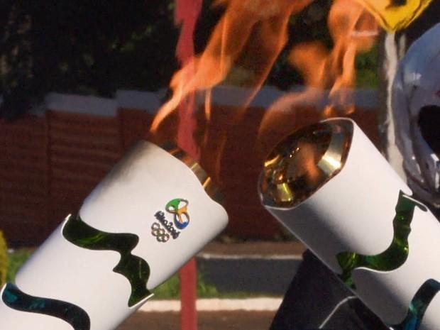 Tocha Olímpica chega à Região Metropolitana no dia 2 de agosto pela cidade de Tanguá (Foto: Reprodução/EPTV)
