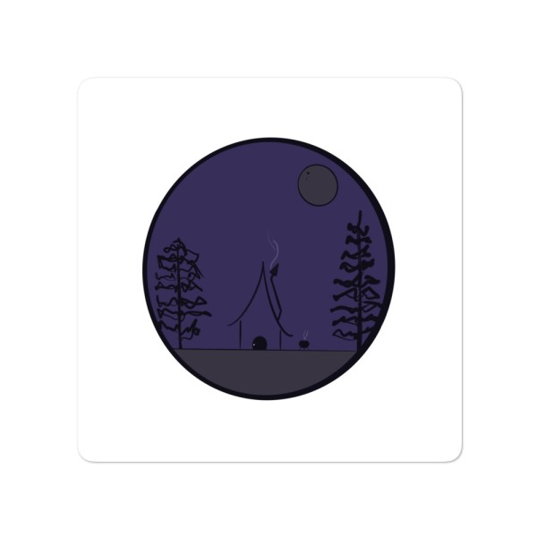 Witch's cabin sticker