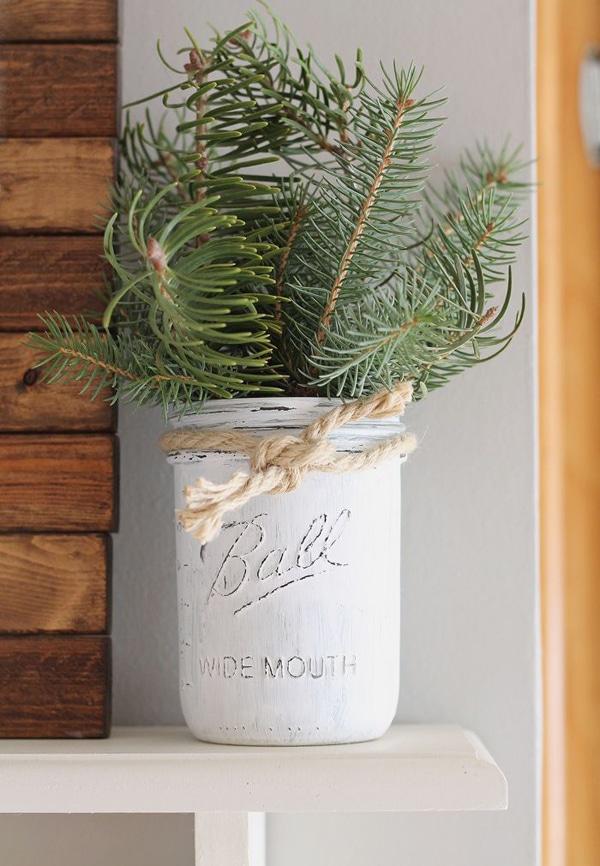 adornos de navidad con frascos 5