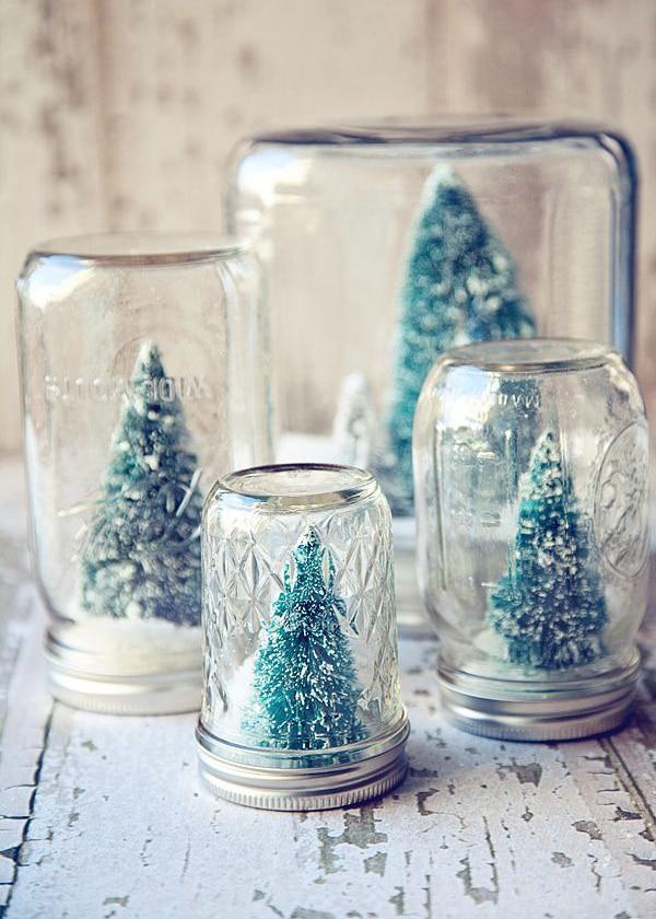 adornos de navidad con frascos potitos
