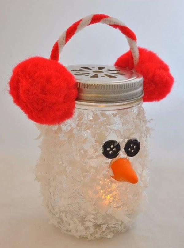 adornos de navidad con frascos