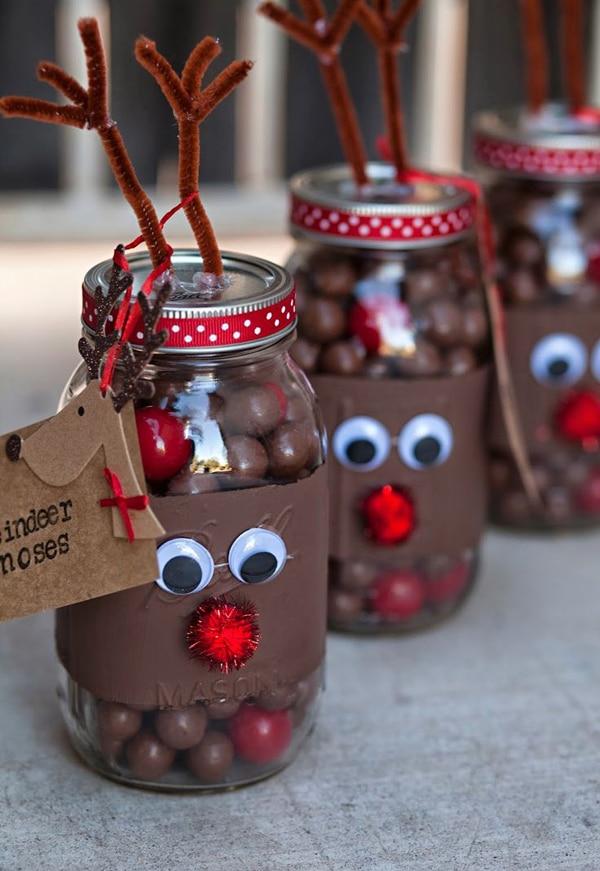 adornos de navidad con frascos 8