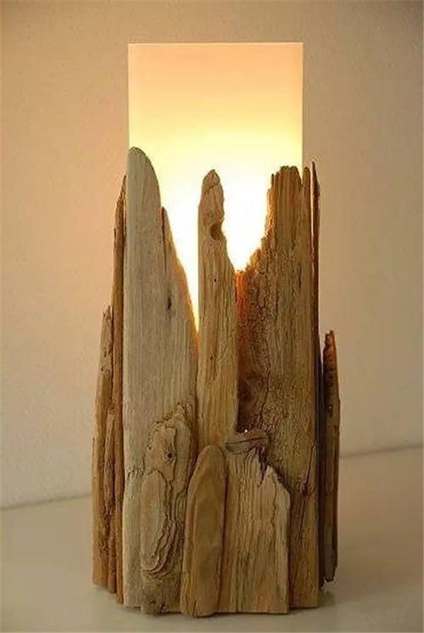 como hacer una lampara de madera artesanal