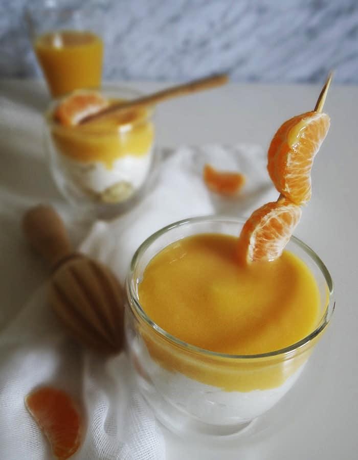 Cheesecake de mandarina