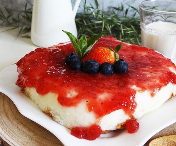 tarta de queso en el microondas