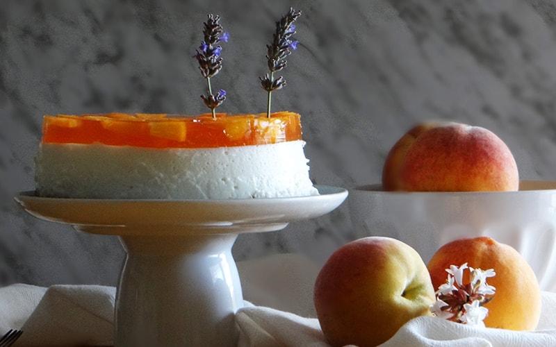 tarta de melocoton y queso mascarpone sin horno