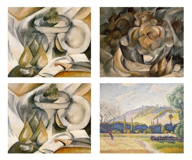 Obrazy Braque'a i Crossa w eksperymencie, który udowadnia sens przeplatania w nauce.