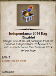 Independance 2014 Bag