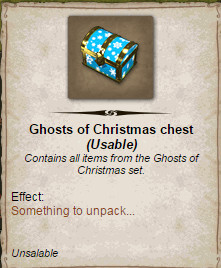 Ghosts of Christmas chest