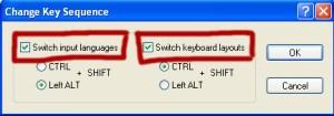 Przełącz języki (Switch input languages)
