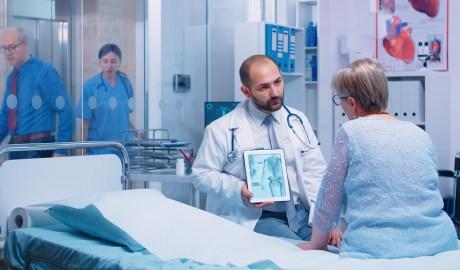 Pacjentka przed zabiegiem densytometrii