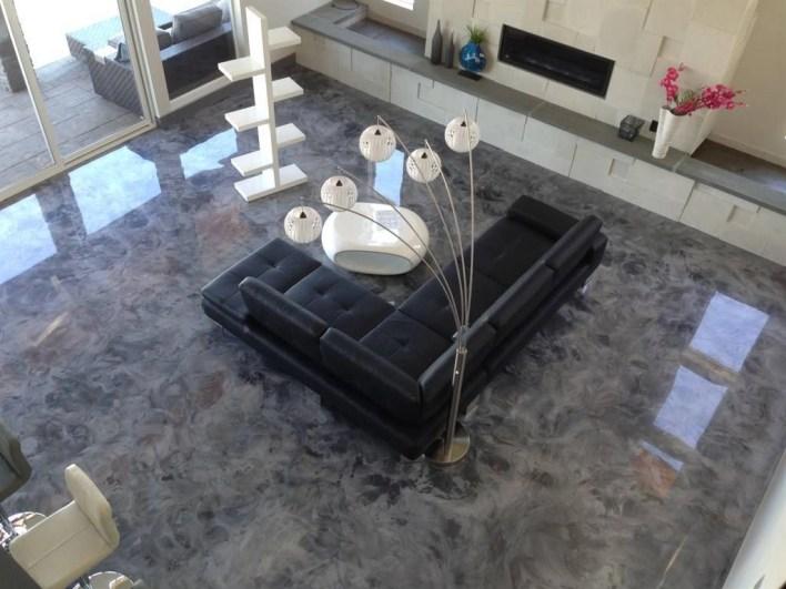 Piso-de-Porcelanato-Liquido-Epoxi-ou-3D-cinza-na-sala-de-estar