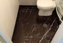 Photo of Piso 3D Mármore Carrara Preto