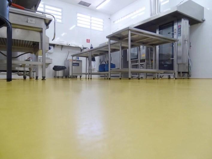 Cozinha Industrial Piso Uretano