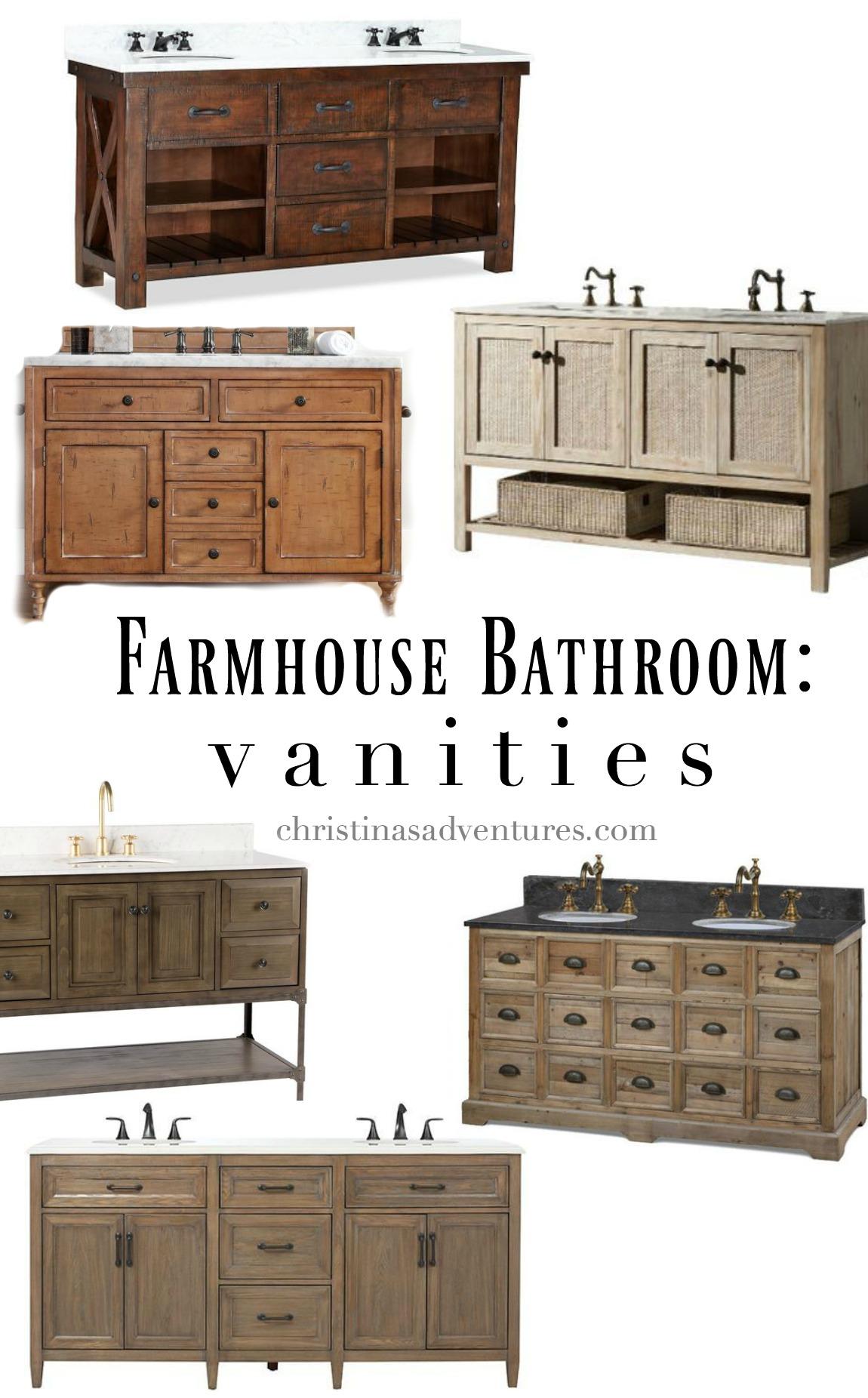 farmhouse bathroom design - christinas adventures