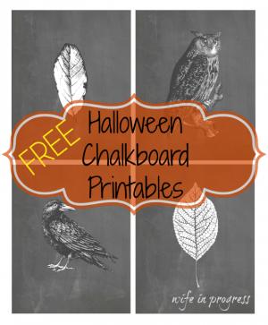 free halloween chalkboard printables