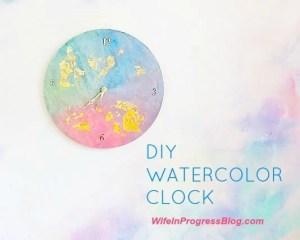 diy-watercolor-clock