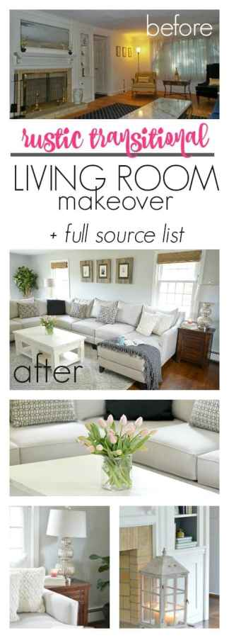 The perfect living room makeover. From dated 1960s disaster to a contempory neutral space. The living room has the perfect amount of rustic without being farmhouse. It looks so cozy and inviting! Full list of sources included to help me recreate the look, too.