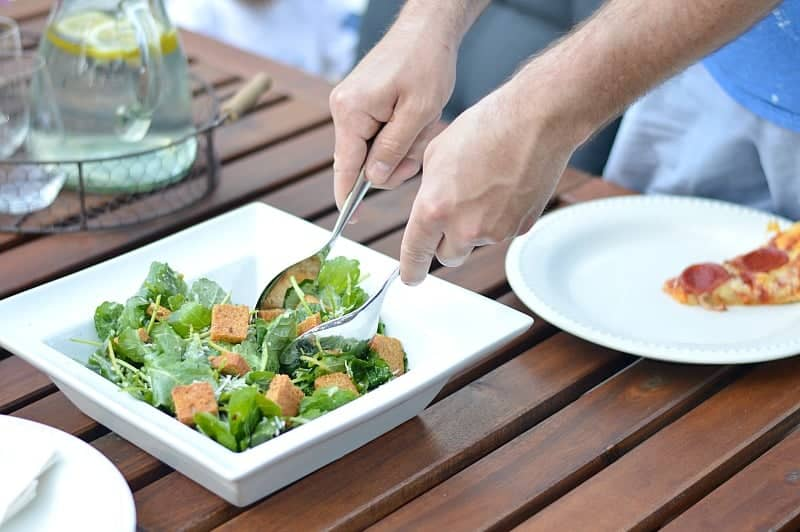 Sort of Kale Caesar Salad for dinner? Yes please!