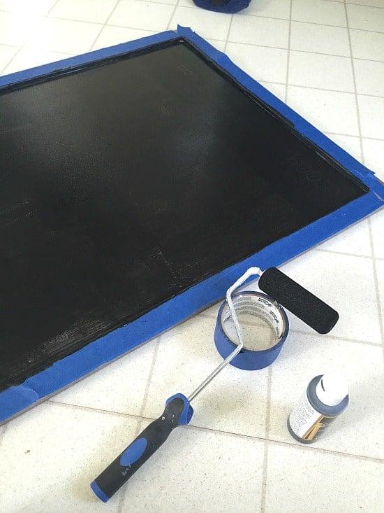DIY Framed Chalkboard Step 4