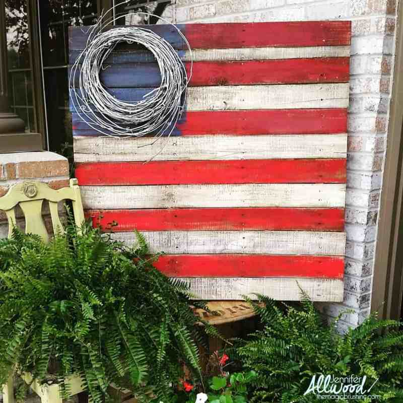4th july decor pallet flag