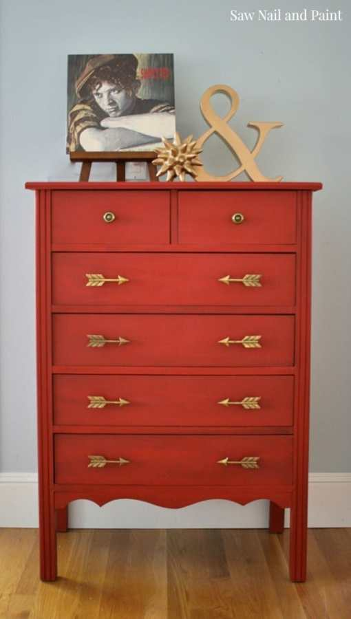 How to refinish furniture with red paint