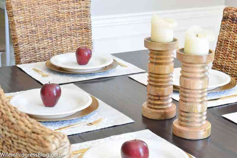 Fall decor ideas using apples.