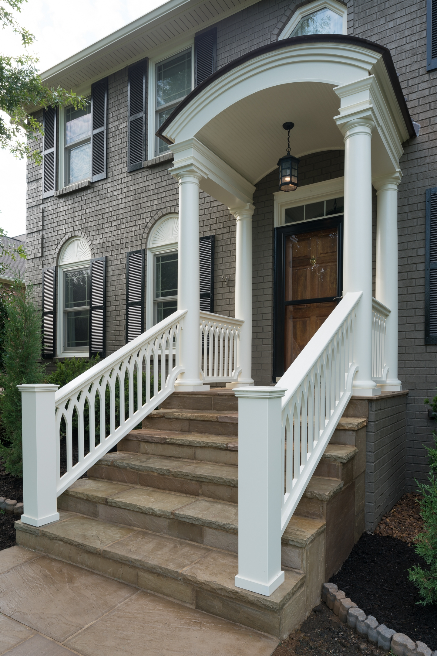 No Matter Where You Live Never Fear The Porch Store Is Here | Pvc Railings For Steps | 3 Step | Plastic | Corner Interior Stair | Steel Vertical Balustrade White Handrail Post | Design