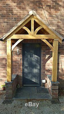 Redwood Porch Front Door Canopy Handmade In Shropshire