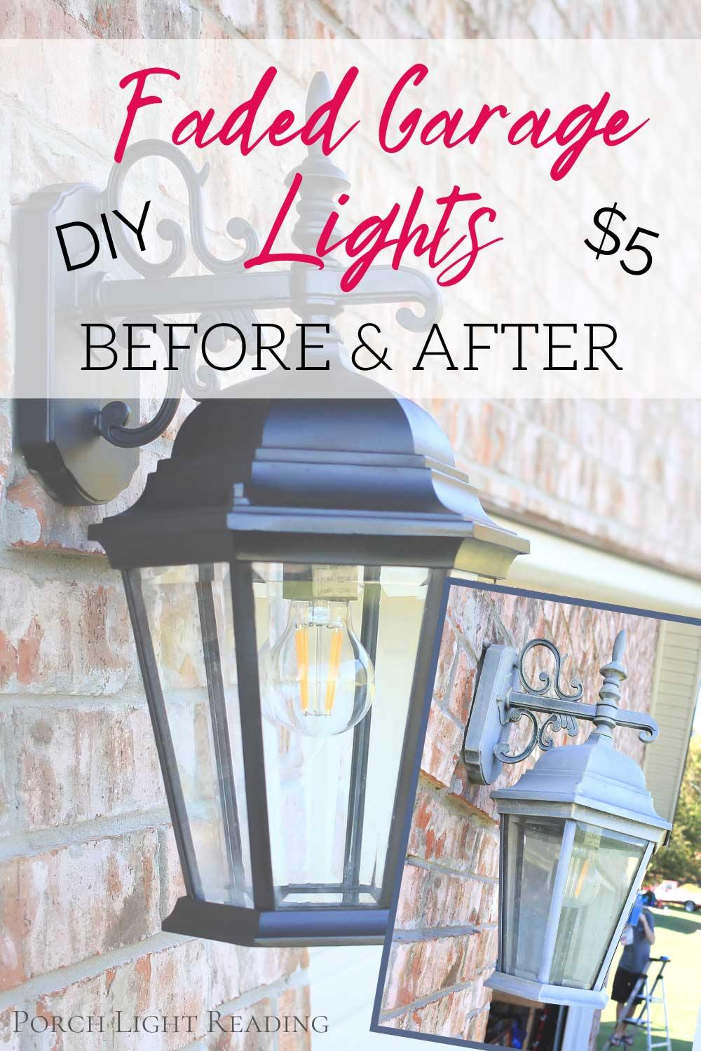 to paint faded outdoor light fixtures