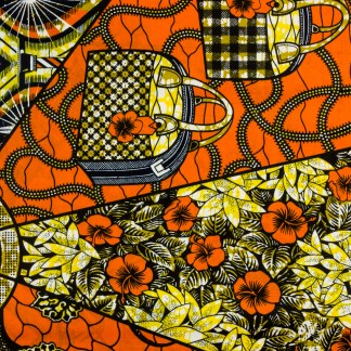 African Wax Print Fabric – Bag Mandela
