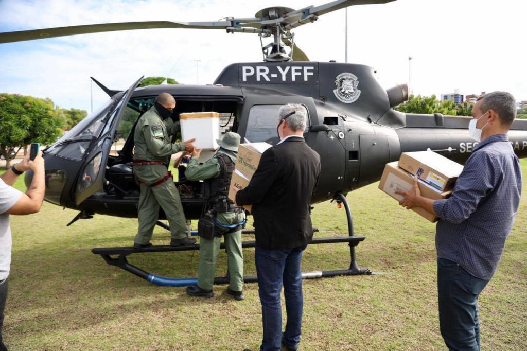 Fátima Bezerra manda helicóptero