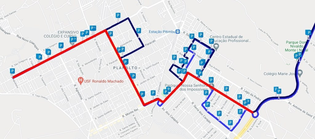 ROTA I Santa Maria anuncia alteração de itinerário da linha O-24; nova rota deixa de atender parte do conjunto Pitimbu